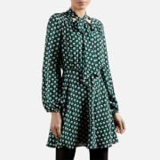 Ted Baker Women's Dolley Rocoo Printed Mini Dress - Dark Green