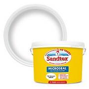 Sandtex Textured Masonry Paint - Pure Brilliant White - 10L