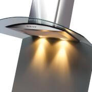 CDA ASG92CGR Curved Glass Splashback - 90 x 75cm - Grey