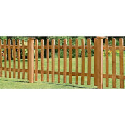 Forest Larchlap Pale 0.9m Picket Fence Panel - Pack of 3
