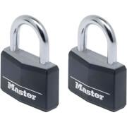 Master Lock Black Padlock - 40mm - 2 Pack