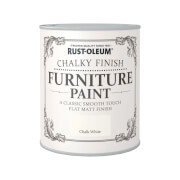 Rust-Oleum Chalky Furniture Paint - Chalk White - 750ml