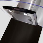 CDA CSB9BL Square Metal Splashback - 90 x 75cm - Black