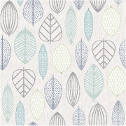 Superfresco Easy Paste the Wall Scandi Leaf Wallpaper - Blue