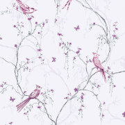 Superfresco Easy Songbird Paste the Wall Lilac Wallpaper