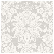 Superfresco Easy Paste the Wall Venetian Damask Wallpaper - Grey