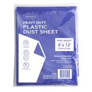 Monarch Heavy Duty Plastic Dust Sheet - Blue - 2.6m x 3.6m