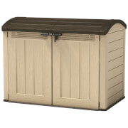 Keter Store it Out Ultra Outdoor Plastic Garden Storage Shed - Beige & Brown - 2000L