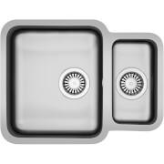 Carron Phoenix Zeta Undermount Reversible Kitchen Sink - 1.5 Bowl