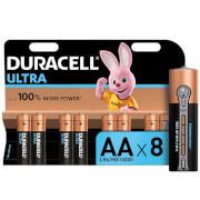 Duracell Ultra AA Batteries - 8 Pack