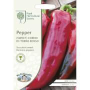 RHS Pepper (Sweet) Corno Di Toro Rosso Seeds