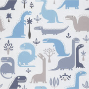 Grandeco Dinosaurs Blue Paste the Wall Wallpaper