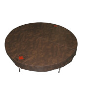 Canadian Spa Round Hot Tub Cover - Brown / 203cm Diameter