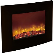 Be Modern Quattro Wall Mounted Electric Fire - Black Glass
