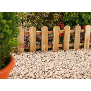 Forest Picket Fence Garden Edging