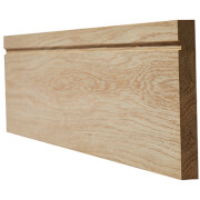 Single Groove Internal Unfinished Oak Skirting - 148 x 3000mm