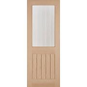 Belize Internal Glazed Unfinished Oak 1 Lite Door - 762 x 1981mm