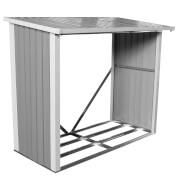 Charles Bentley Anthracite Metal Log Store - 6x3ft