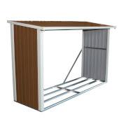 Charles Bentley Brown Metal Log Store - 8x3ft