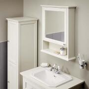 Bathstore Savoy Old English Mirror Wall Cabinet - White