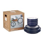 Denby Elements 12 Piece Tableware Set - Dark Blue
