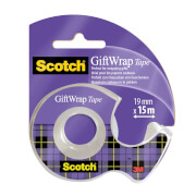 Scotch GiftWrap Tape on Hand Held Dispenser - 19mm x 15m