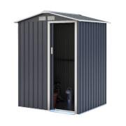 Charles Bentley 4.9ft x 4.3ft Grey Metal Storage Shed