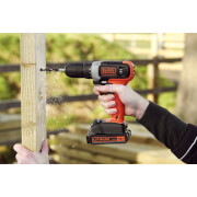 BLACK+DECKER 18V Cordless Drill Driver with Battery and Charger (BCD001C1-GB)