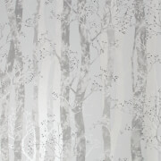 Sublime Dappled Trees Grey Silver Wallpaper