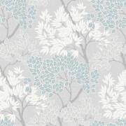 Fresco Tree Smooth Sky Blue Wallpaper