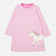 Joules Girls' Rosalee Long Sleeve Dress - Purple Unicorn