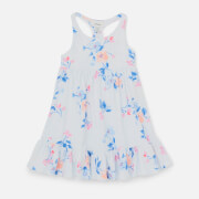 Joules Girls' Juno Floral Dress - White Floral Stripe