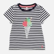 Joules Girls' Astra T-Shirt - Ice Cream Stripe