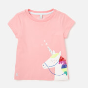 Joules Girls' Astra T-Shirt - Pink Unicorn