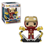 Figura Funko Pop! Exclusivo PX Deluxe - Iron Man Mark IV Con Grúa Robot - Marvel: Iron Man 2