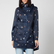 Joules Women's Golightly Packable Jacket - Navy Dog