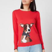 Joules Women's Miranda Knitted Sweatshirt - Red Dog