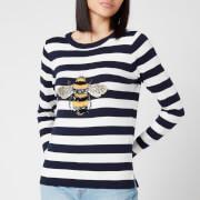 Joules Women's Miranda Luxe Knitted Sweatshirt - Navy Stripe