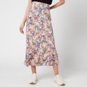 Joules Women's Coletta Midi Skirt - Blue Floral