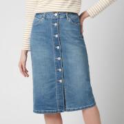 Joules Women's Francesca Denim Midi Skirt - Light Denim