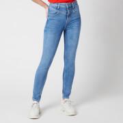 Guess Women's Super High Yokie Jeans - Deep Purple