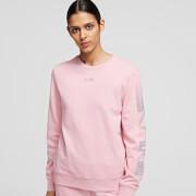 KARL LAGERFELD Women's Rhinestone Logo Sweatshirt - Pink