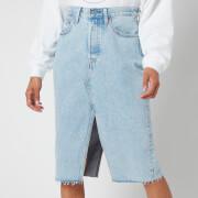 Levi's Women's Deconstructed Split Skirt - Light Sky Blue