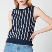 MICHAEL Michael Kors Women's Sleeveless Chain Vest - Midnight Blue/White