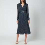 MICHAEL Michael Kors Women's Perfection Dot Kate Dress - Midnight Blue/White