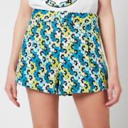 MICHAEL Michael Kors Women's High Waist Shorts with Belt - Bright Limeade