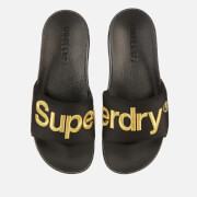 Superdry Men's Classic Scuba Slide Sandals - Black/Gold