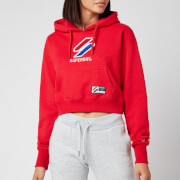 Superdry Women's Sportstyle Classic Boxy Hoodie - Risk Red