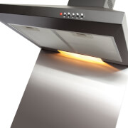 CDA CSB6SS Square Metal Splashback - 60 x 75cm - Stainless Steel
