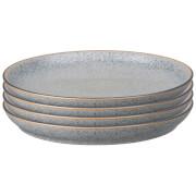 Denby Studio Grey Coupe Dinner Plate Set (Set of 4)